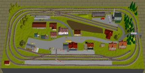 Spielbahn 80 x 180cm Spur N 3D Gleisplan