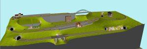 Fleischmann Gleisplan Spur N 200x80 mit viel Betrieb