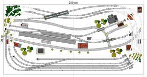 Minitrix Gleisplan - Komplettansicht