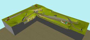 Gleisplan 3D lange Fahrstrecken - Minitrix