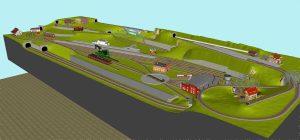Gleisplan Fleischmann Spur N 350x120 3D