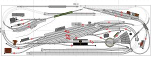 Gleisplan Fleischmann Spur N 350x120 Erklärung